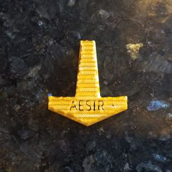 Aesir.jpg Download STL file Aesir Mjolnir • 3D printable model, Ellie_Valkyrie