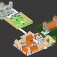 HyruleCastleInfographic.png Download free STL file Hyrule Castle Town (Low Poly) • 3D printer object, MintyFries