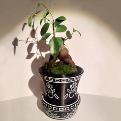 1.png Download STL file Flower pot with hidden compartment • 3D printable design, Sceadugenga