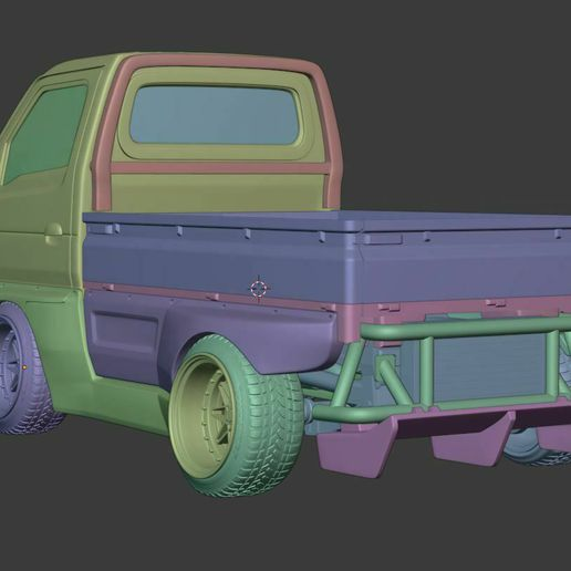 suzuki carry hoonigan (4).JPG Download STL file Suzuki Carry Style model with bodykit - Complete Model  • Object to 3D print, BlackBox