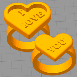 demoanillos.png Download free STL file VALENTINE'S DAY RINGS • 3D printable template, JMR3D