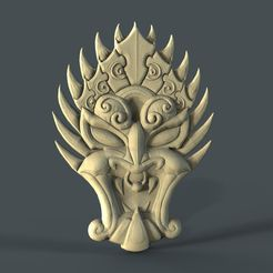 19_017_maska_6.jpg Download free STL file mask devil cnc art • 3D printer template, 3Dprintablefile