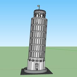 Tower Scenic.JPG Descargar archivo STL PREMIUM N Scale Leaning Tower of Pisa • Diseño imprimible en 3D, MFouillard