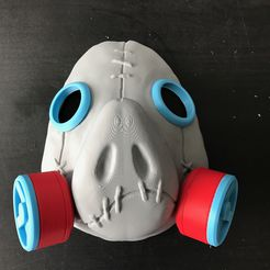 IMG_1361.jpg Download STL file Roadhog Cosplay Mask • Object to 3D print, AlkinsDesigns