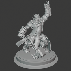 thrall.PNG Descargar archivo STL gratis World of Warcraft - Thrall • Plan para imprimir en 3D, hertelandrey