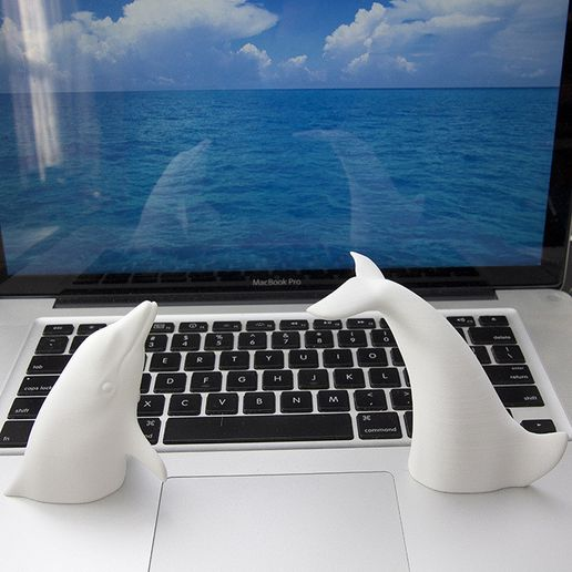 dolphin700.jpg Download STL file Dolphins or A Dolphin? • 3D print model, 18111