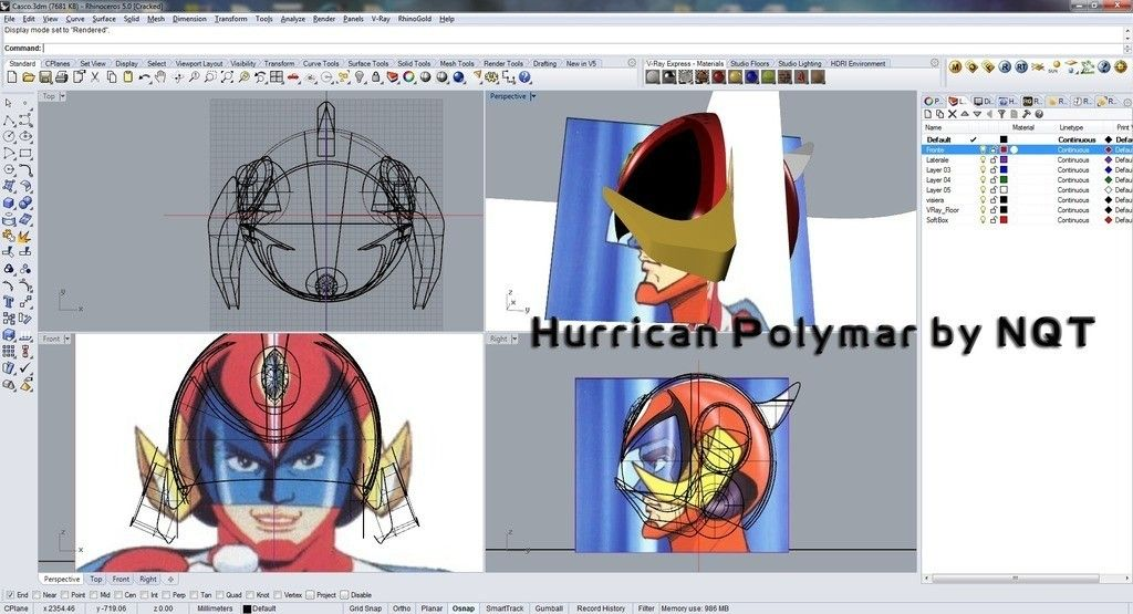 po_display_large.jpg Download free STL file Hurrican Polymar MANGA helmet • Object to 3D print, Caghon3d
