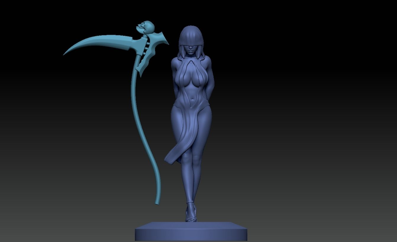 ZBrush Document4.jpg Download STL file sexy Reaper girl  • 3D print template, jexes20092