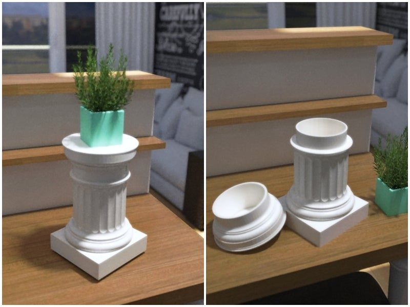 Split_view_01.jpg Download free STL file Doric Pedestal Container • 3D printable object, Zippityboomba