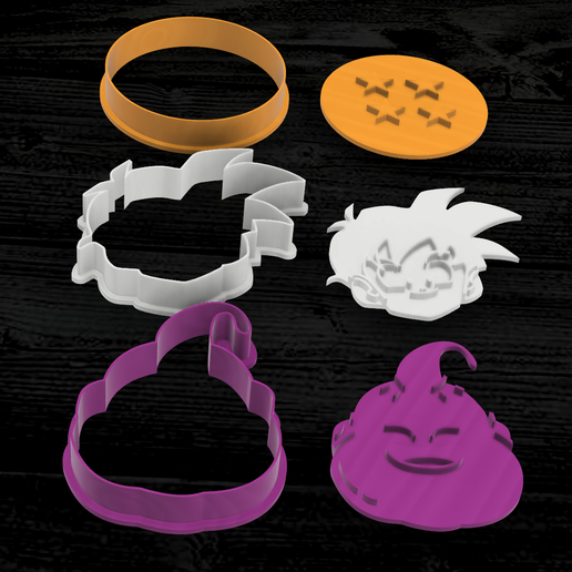 CORTANTES DRAGON BALL5.png Download STL file Pack x 9 Dragon ball Cookie cutter • 3D printer model, 3dokinfo