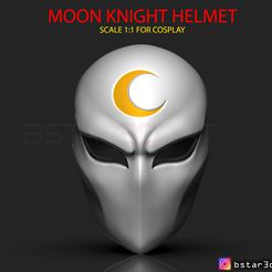 00001.jpg Download STL file Moon Knight Mask - Marvel helmet  • Design to 3D print, Bstar3Dart