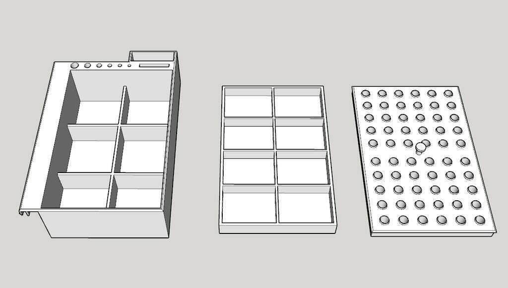 toolsbox.jpg Download free STL file Tools Box Clipping on 2020 or 4020 alu profile • Object to 3D print, Phoquounet