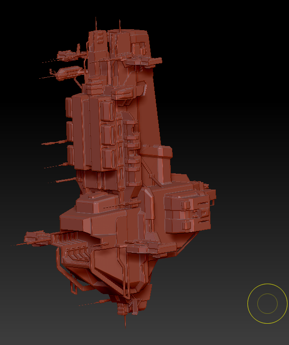 Auxiliary ship (4).png Download OBJ file Combat support ship • 3D print object, DesignerWinterson