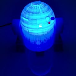 1.jpg Download STL file R2D2 LIGHT LAMP • 3D printable design, jjaappg