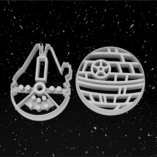 falcon y death star.png Download STL file Pack x12 Cookie cutters Star Wars • 3D printable template, 3dokinfo