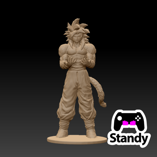 2.png Download OBJ file goku SS4 controller ps4/ps5 stand • 3D print model, standy