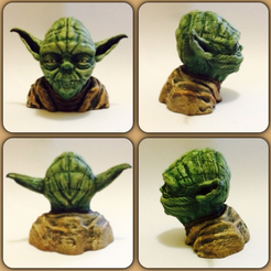 Capture d'écran 2016-12-12 à 12.57.47.png Download free STL file Yoda Bust Hi Res 56mb • 3D printable design, Geoffro