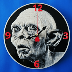 Capture d'écran 2018-03-30 à 17.15.18.png Download free STL file Gollum 3D clock • 3D printer template, 3dlito