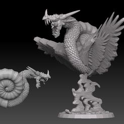 nautiloid promo.jpg Download STL file Nautiloid Dragon • 3D printing template, SharedogMiniatures
