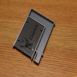 """IMG_8942.JPG Download free STL file HP 3.5"""" HDD to SSD tray • 3D printable template, ornotermes"""