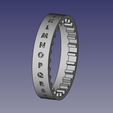 cryptex_anneau_ecriture.png Download free STL file Cryptex with 4 alphabetic multicombination rings • 3D printing object, renaud59