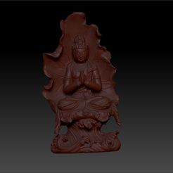 guanyinBuddhaA1.jpg Download free STL file guanyin buddha statue 3d model for cnc or 3d printing • 3D print object, stlfilesfree