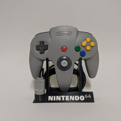 63dd068662478da8c4e5b13b2b5b0242_display_large.jpg Download free STL file Nintendo 64 Controller Stand • Object to 3D print, mark579
