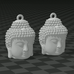 JJLJH.PNG Download STL file BUDDHA EARRINGS • Object to 3D print, mistic-3d