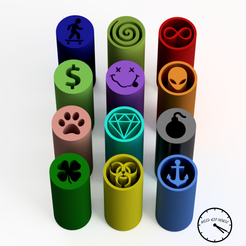 RANDOM1 con logo.png Download STL file Filter Tips -Pack Random (Reusable Nozzles) Weed Filter • 3D printer template, Weed420House