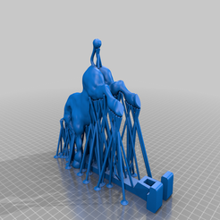 Cheval_support_mesh.png Download free STL file Horse phone holder meshmixer • 3D printer template, Forestier57