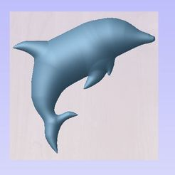 dauphin 3.JPG Download free STL file Dolphin • 3D printable object, robinwood87cnc