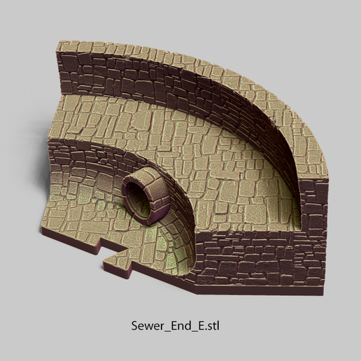 Sewer_End_E.png Download file PuzzleLock Sewers & Undercity • Design to 3D print, Zandoria