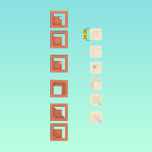 Screenshot_3.png Download STL file Polymer clay cutter square with figures/Lorren3d • 3D printable model, lorren3d