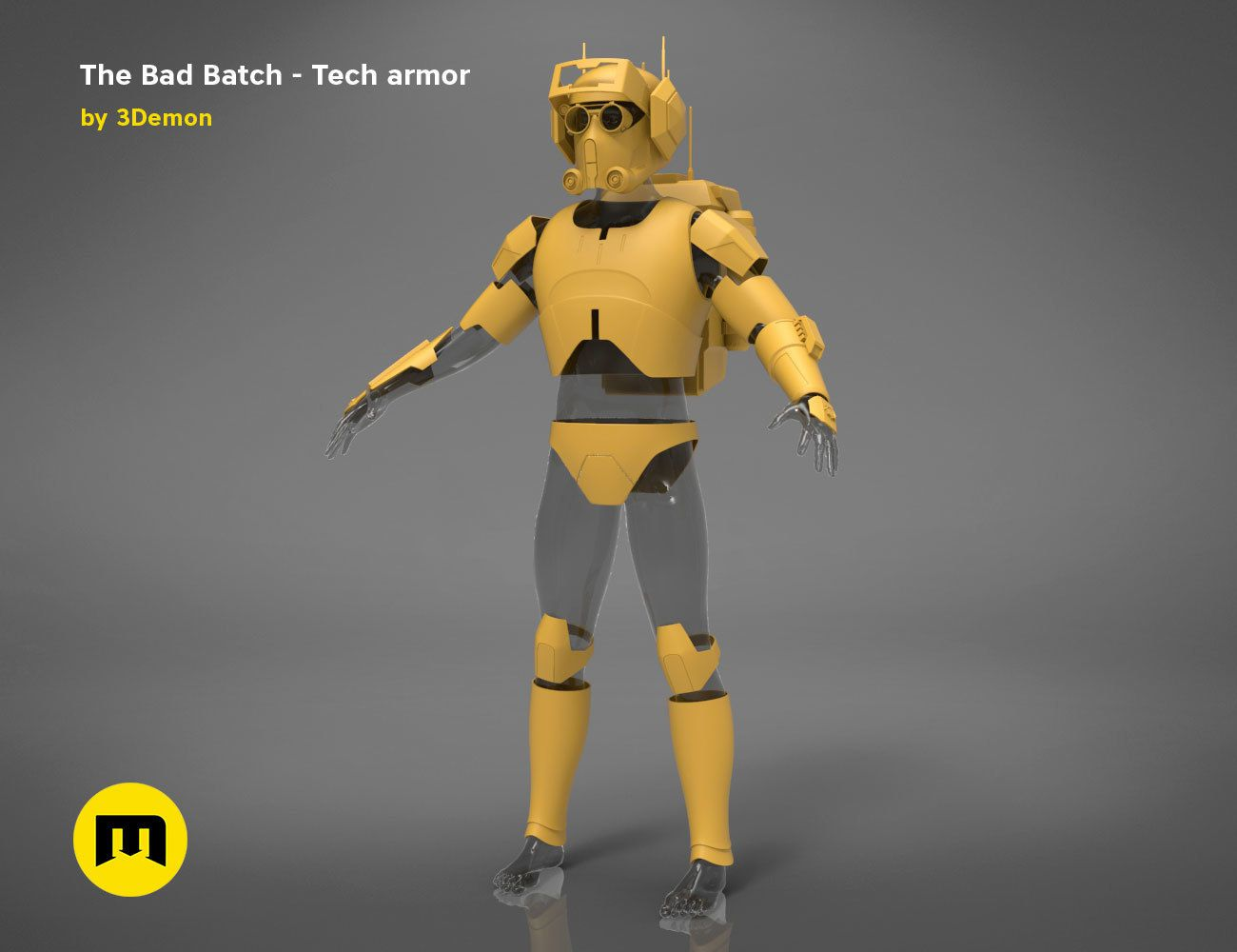 render_Bad_Batch_Tech-basic.225.jpg Télécharger fichier OBJ L'armure de Bad Batch Tech • Design pour imprimante 3D, 3D-mon
