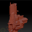 Auxiliary ship (1).png Download OBJ file Combat support ship • 3D print object, DesignerWinterson