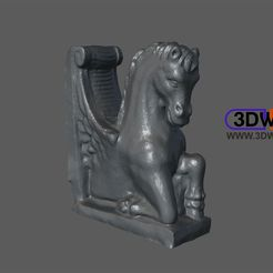 HorseStatue.jpg Download free STL file Horse Statue 3D Scan (Pegasus) • 3D printable design, 3DWP