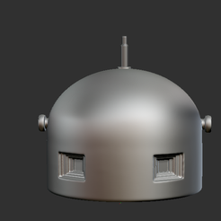 10.png Download STL file armoured loche GFM (Guet-Fusil Mitrailleur) 3 slots of the Maginot Line for Reibel machine gun and periscope • Object to 3D print, NICOCO3D