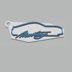 llavero mustang color.png Download free 3MF file Ford Mustang Keychain • Template to 3D print, 3Leones