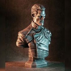 1000X1000-gord-thumb-color.jpg Download free STL file Admiral Gord bust (original) • 3D printable object, eastman