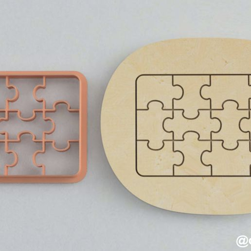 Puzzle_3.jpg Download free STL file Forms for cookies and gingerbread Puzzle (SET 3) • 3D printable object, dmitriysk3d