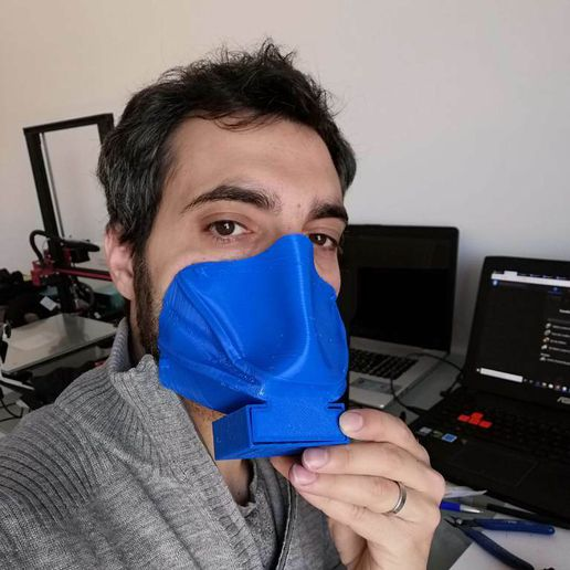 IMG_20200321_094047.jpg Download free STL file Masque thermoformé   /  Thermoformed mask • Template to 3D print, morganjimenez42
