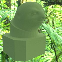 Slowth.jpg Download free STL file Sloth Bust & Astro Sloth • 3D print design, AwesomeA