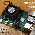FanMount.jpg Download free STL file Cooling Fan Mount for Raspberry Pi 3 and 4 • Model to 3D print, Tipam