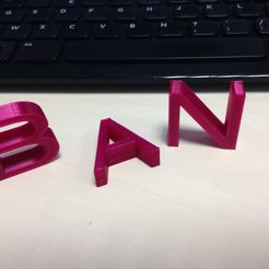 IMG_1017.JPG Download STL file Letters • Object to 3D print, n256