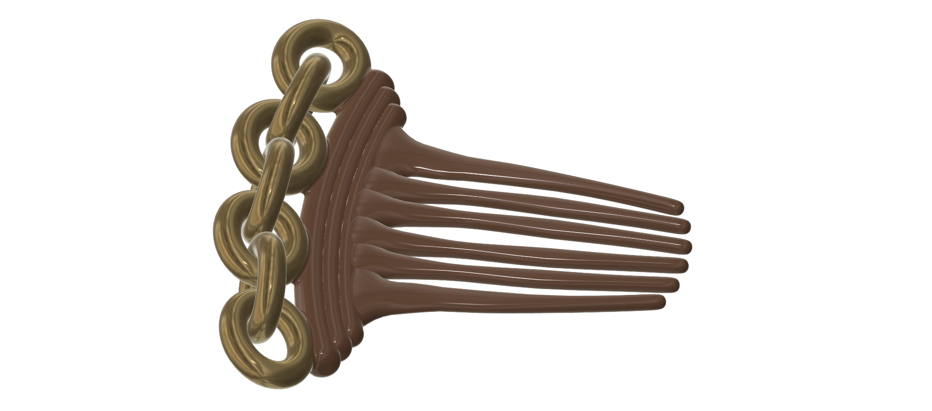 Hair-comb-10-v6-08.png Download 3MF file FRENCH PLEAT HAIR COMB Multi purpose Female Style Braiding Tool hair styling roller braid accessories for girl headdress weaving fbh-10 3d print cnc • 3D printable object, Dzusto