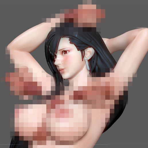 41.jpg Télécharger fichier STL TIFA SEXY NAUGHTY NAKED HENTAI VERSION FINAL FANTASY CHARACTER ANIME STATUE 3D MODEL • Objet pour impression 3D, figuremasteracademy
