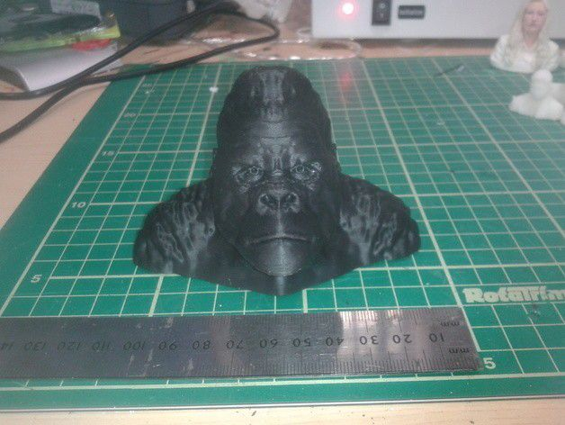 20140627_092049_preview_featured.jpg Download free STL file Gorilla Bust • 3D print model, Masterclip