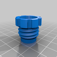 tap_diffuser_lock_nut.png Download free STL file Laboratory cold water Tap Diffuser • 3D printable template, Steve_rLab