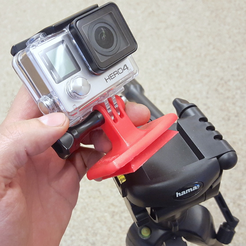 Capture_d__cran_2015-10-09___11.31.18.png Download free STL file GoPro Tripod Quick-Release Plate Mount Adapter (Hama-compatible) • Object to 3D print, CreativeTools