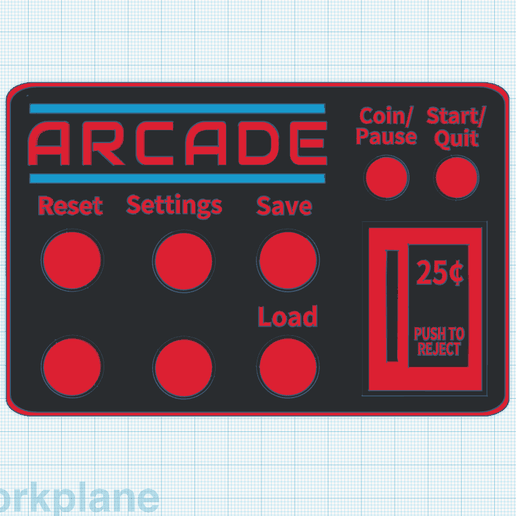 Screen Shot 2018-05-06 at 1.05.31 PM.png Download free STL file Arcade Machine Directions Card • 3D print object, MeesterEduard
